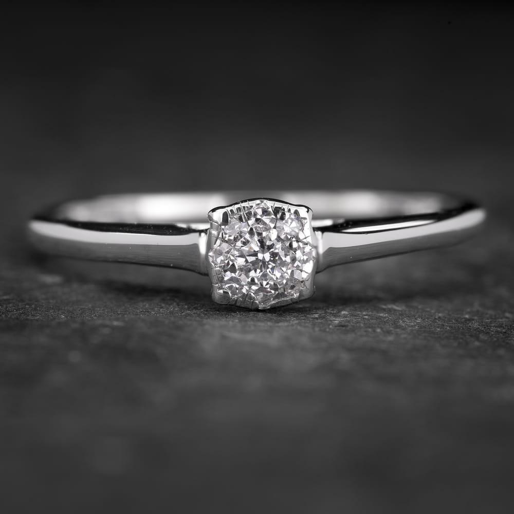 """Sužadėtuvių žiedas su Deimantais """"Shiny Bunch 24"""""""