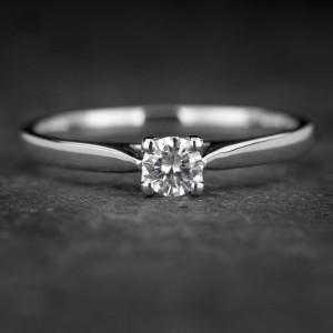 """Sužadėtuvių žiedas su Briliantu """"The Goddess 43"""""""