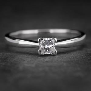 """Sužadėtuvių žiedas su Briliantu """"Princess 53"""""""