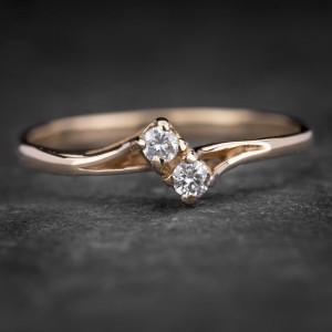 """Sužadėtuvių žiedas su Briliantais """"Two Hearts 6"""""""