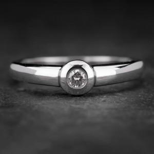"""Sužadėtuvių žiedas su Briliantu """"Sweetness 29"""""""