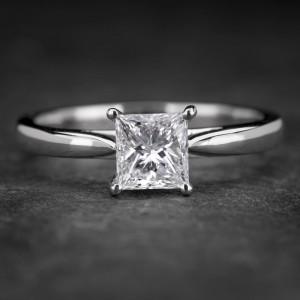 """Sužadėtuvių žiedas su Deimantu """"Princess 55"""""""