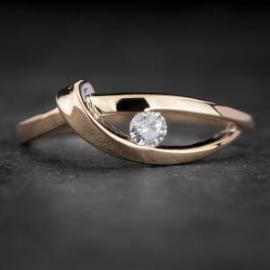 "Auksinis žiedas su Briliantu ""Fortune 27"""