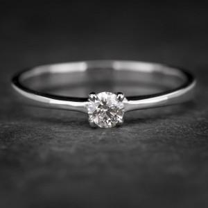"""Sužadėtuvių žiedas su Briliantu """"The Diamond 56"""""""