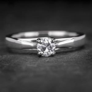 """Sužadėtuvių žiedas su Briliantu """"Fortune 28"""""""