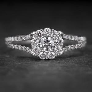 """Auksinis žiedas su Briliantais """"Tiara 24"""""""
