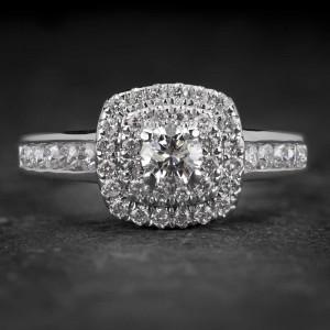 """Auksinis žiedas su Briliantais """"Tiara 25"""""""