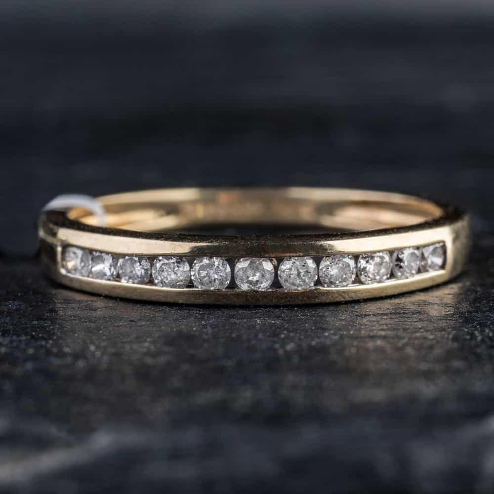 """Auksinis žiedas """"Deimantinė juostelė 6"""""""