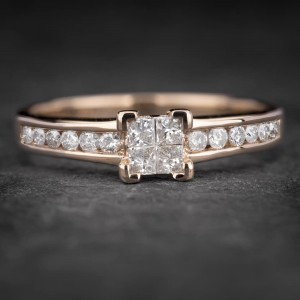 """Auksinis žiedas su Deimantais """"Princesses 24"""""""