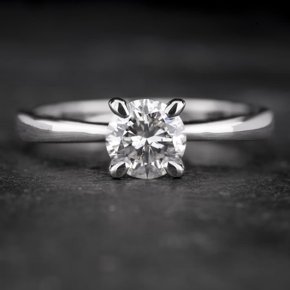 """Sužadėtuvių žiedas su Briliantu """"The Goddess 45"""""""