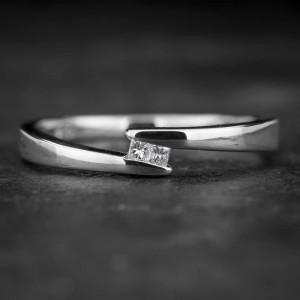 """Auksinis žiedas su Deimantais """"Princesses 25"""""""