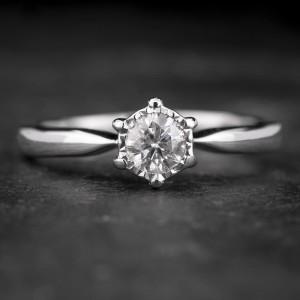 """Sužadėtuvių žiedas su Briliantu """"The Sun 41"""""""