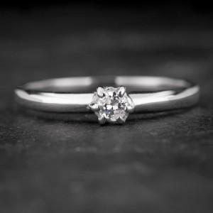 """Sužadėtuvių žiedas su Briliantu """"The Sun 42"""""""