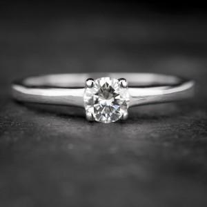 """Sužadėtuvių žiedas su Briliantu """"The Diamond 57"""""""