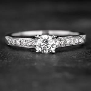 """Sužadėtuvių žiedas su Briliantais """"The Elegance 50"""""""