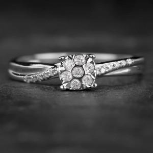 """Sužadėtuvių žiedas su Deimantais """"Shiny Bunch 27"""""""