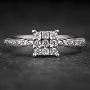 """Sužadėtuvių žiedas su Deimantais """"Shiny Bunch 29"""""""