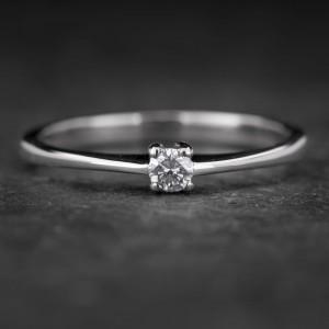 """Sužadėtuvių žiedas su Briliantu """"The Diamond 58"""""""