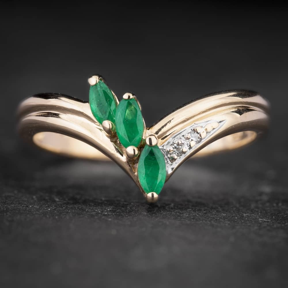 """Auksinis žiedas su Brangakmeniais """"Marquise 7"""""""