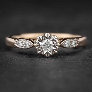"""Sužadėtuvių žiedas su Briliantais """"The Sun 45"""""""