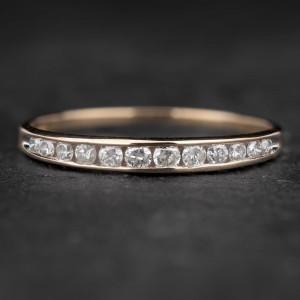 """Auksinis žiedas su Briliantais """"Deimantinė Juostelė 33"""""""
