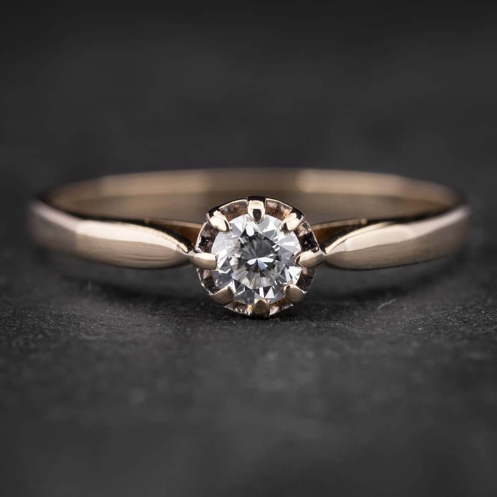 """Sužadėtuvių žiedas su Briliantu """"Shiny Flower 20"""""""