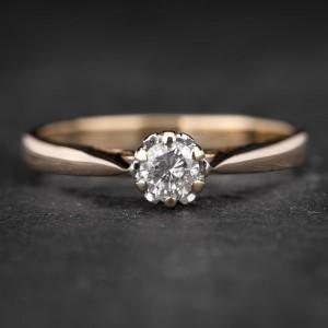 """Sužadėtuvių žiedas su Briliantu """"Kunigaikštė 69"""""""