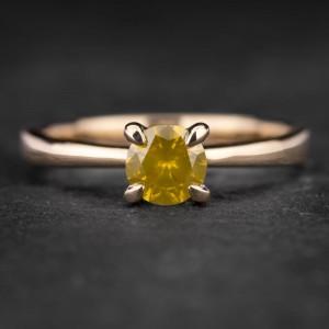 """Sužadėtuvių žiedas su Briliantu """"The Goddess 46"""""""