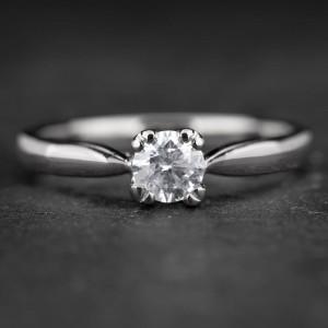 """Sužadėtuvių žiedas su Briliantu """"The Goddess 47"""""""