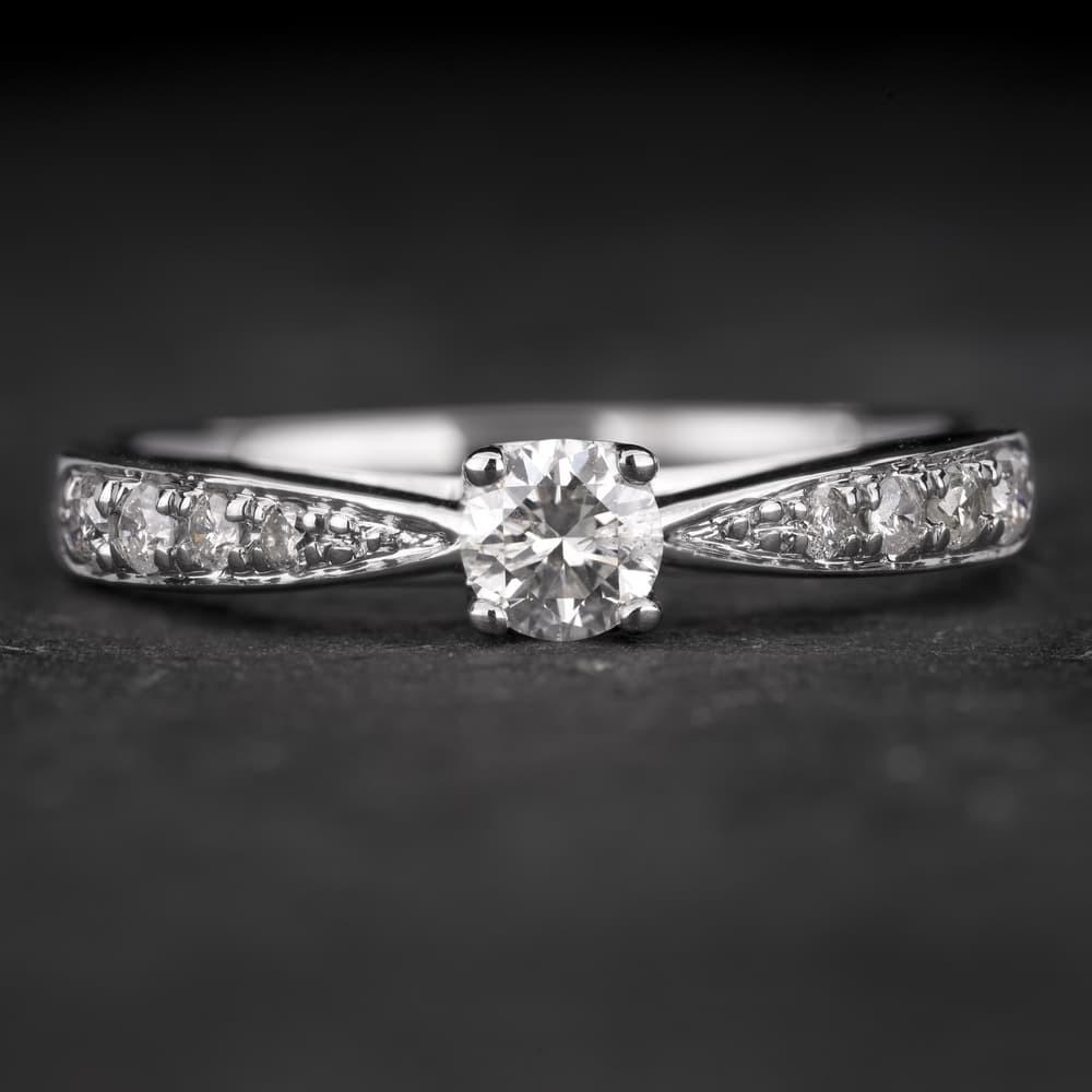 """Sužadėtuvių žiedas su Briliantais """"The Elegance 51"""""""