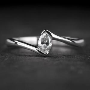 "Sužadėtuvių žiedas su Deimantu ""Fortune 35"""