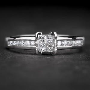 """Sužadėtuvių žiedas su Deimantais """"Princesses 26"""""""