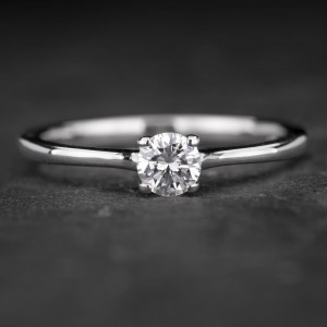"""Sužadėtuvių žiedas su Briliantu """"The Diamond 60"""""""