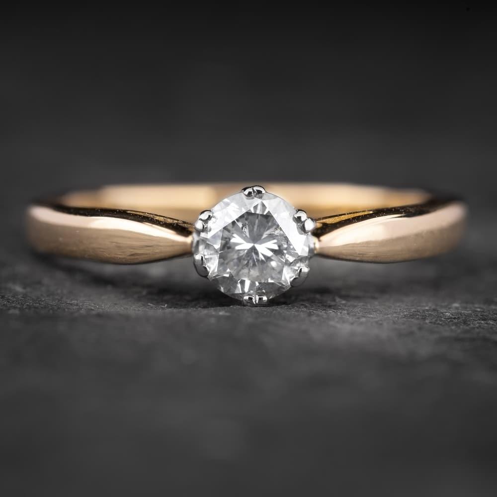 """Sužadėtuvių žiedas su Briliantu """"Kunigaikštytė 74"""""""