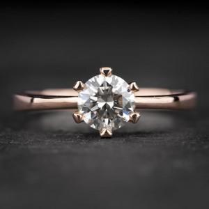 """Sužadėtuvių žiedas su Briliantu """"Enhanting 8"""""""