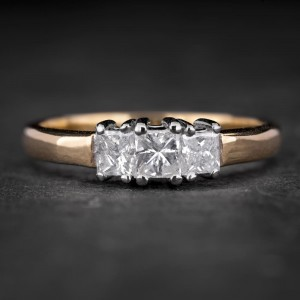 """Sužadėtuvių žiedas su Deimantais """"Trilogy 34"""""""