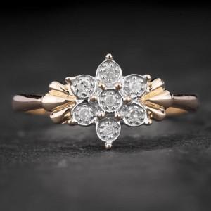 """Auksinis žiedas su Deimantais """"Shiny Flower 22"""""""