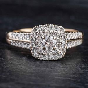 """Auksinis žiedas su Briliantais """"Tiara III"""""""