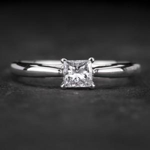 """Sužadėtuvių žiedas su Deimantu """"Princess 63"""""""