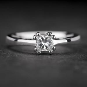 """Sužadėtuvių žiedas su Deimantu """"Princess 65"""""""