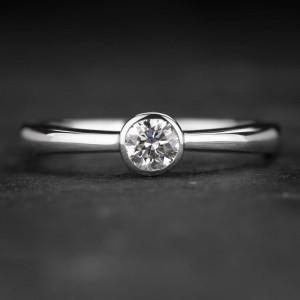 """Sužadėtuvių žiedas su Deimantu """"Sweetness 35"""""""