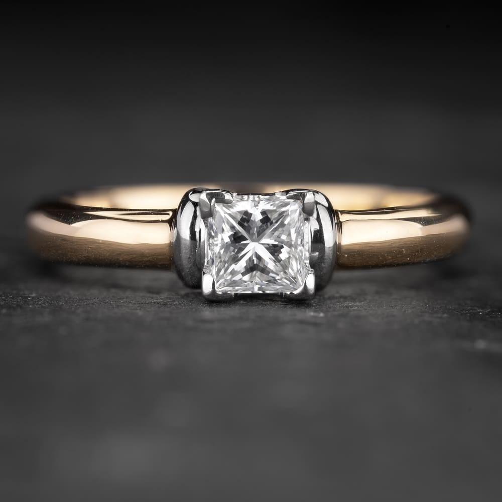 """Sužadėtuvių žiedas su Deimantu """"Princess 69"""""""