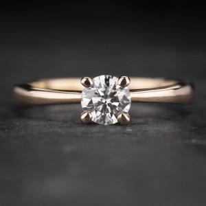 """Sužadėtuvių žiedas su Briliantu """"The Goddess 50"""""""