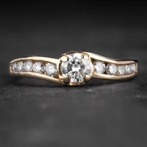 """Sužadėtuvių žiedas su Briliantais """"The Elegance 59"""""""