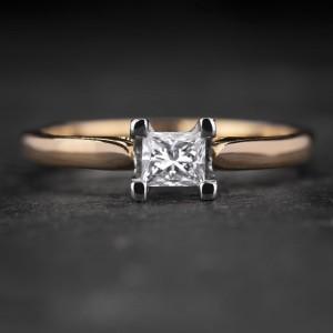 """Sužadėtuvių žiedas su Deimantu """"Princess 70"""""""