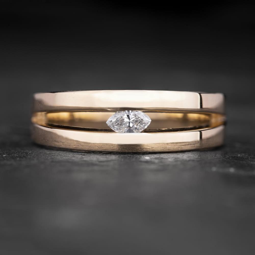 """Sužadėtuvių žiedas su Deimantu """"Shining Eye 3"""""""