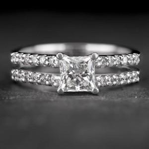 """Sužadėtuvių žiedas su Deimantais """"Princess 71"""""""