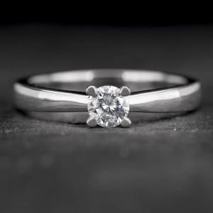 """Sužadėtuvių žiedas su Briliantu """"The Best 21"""""""