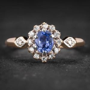 """Auksinis žiedas su Brangakmeniais """"The Sun of Sapphire 8"""""""