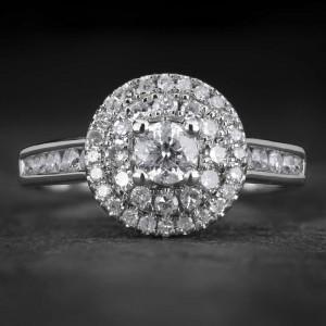 """Auksinis žiedas su Briliantais """"Tiara 27"""""""